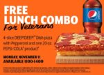 Little Caesars Veterans Day FREE HOT-N-READY® Lunch Combo