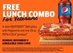 Little Caesars Veterans Day Free Lunch Combo