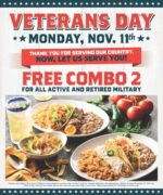On the Border Veterans Day FREE Meal