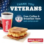 Pilot Flying J Buying Veterans Day Free Coffee and Breakfast Item (November 9 – 15)