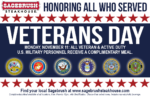Sagebrush Steakhouse Veterans Day FREE Meal