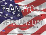 Bandanas BBQ Veterans Day FREE Meal