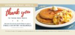 Country Kitchen Restaurants FREE Country Scramble on Veterans Day