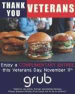 Grub Veterans Day FREE Meal