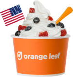 Orange Leaf Frozen Yogurt Froyo For Freedom